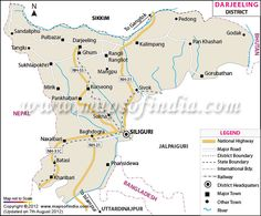 District Map of Darjeeling