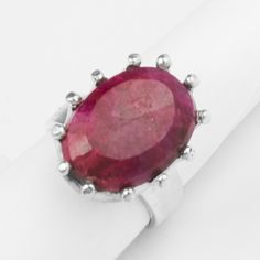 Great Falls Metalworks - Royal ring with faceted ruby in sterling silver (Item DVVS Fine Jewelry Royal Rings, Metal Working, Bracelet Watch, Coin Purse, Fine Jewelry, Purses, Sterling Silver, Bracelets, Red
