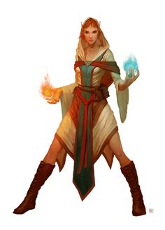 Elf wizard concept; this one looks like it would be relatively easy to make.