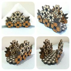 Quilled napkin holder