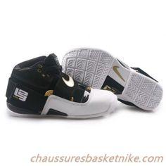 online store c0a61 29cad Nike Zoom Lebron 4.5 IV.V Noir Blanc Or. chaussures basket