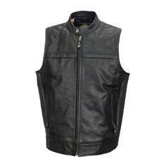 RSD Colt Vest Lthr Black