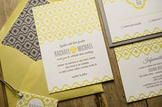 Hey, I found this really awesome Etsy listing at https://www.etsy.com/listing/180293417/yellow-gray-wedding-invitation-yellow
