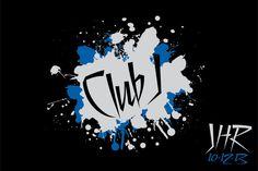 Club Logo Club Themed Logo with Splatter Paint