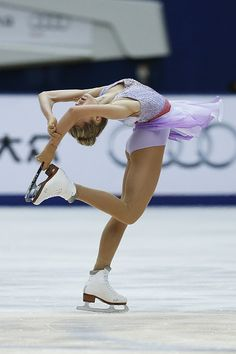 Elena Radionova of Russia competes in the Ladies Short Program on day two of Audi Cup of China ISU Grand Prix of Figure Skating 2015 at Beijing...
