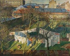 """James McIntosh Patrick, """"A City Garden"""" (1940). First Known When Lost"""