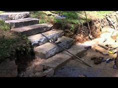 ▶ Drystone Retaining Wall with Country Fieldstone Steps - YouTube