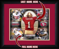 "Personalized San Francisco 49ers #1 Draft Pick Collage-15"" x 18"" Framed HD Print"