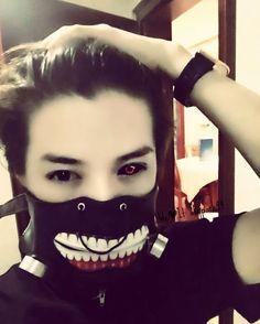 LuHan as Tokyo Ghoul's Kaneki Ken. Edit by me. Credits: LuHan's weibo