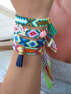 Colorful friendship bracelets with suede by SofiMoukidouJewels, $40.00