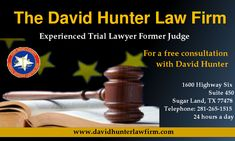 When your rights and freedom are on the line, you need a strong, aggressive and effective criminal defense. As your criminal defense attorney, I will fight hard to protect your rights and preserve your freedom.For a free consultation with David Hunter, DWI lawyer, call 281-265-1515, or contact us using the form on the right. Phones are answered 24 hours a day.  http://www.davidhunterlawfirm.com