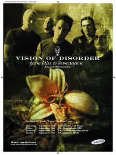 Vision of Disorder - From Bliss To Devastation full page Rock Sound ad. Client: Music For Nations. Circa 2002. © Sean Mowle.