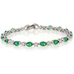 emerald stone | Online Jewelry / Bracelets / Emerald Bracelets / Oval Cut Emerald ...