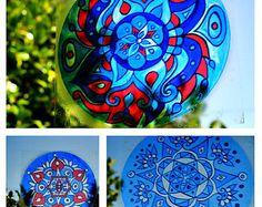 Türkis Mandala Suncatcher geometrische Design von EyePopArt