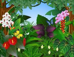 Jungle Trees Clip Art   rainforest leaves clip art   bible school ...