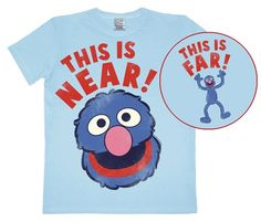Springtee Blue Puppet Halloween Grover Costume Kids /& Adult T-Shirt