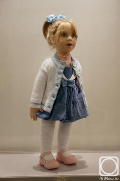 """Mehanoshina Cvetlana felt doll 73cm tall (about 29"""")"""