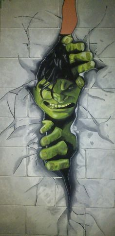 Hulk wall mural for superhero fans!