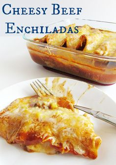 These Cheesy Beef Enchiladas are so quick and easy! Perfect for a weeknight dinner when you don't want to really cook! AD #HormelFamily