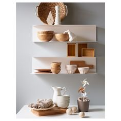 Create your room organization and decorating ideas with IKEA wall shelves! Best IKEA wall shelves shall enhance your home with improvement values Ikea Wall Shelves, White Wall Shelves, Kitchen Wall Shelves, Storage Shelves, Shelf Wall, Pink Shelves, Wall Shelving, Shelving Units, Glass Shelves