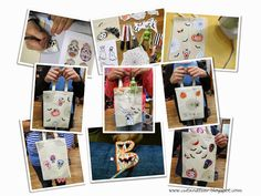 Cut and Tear: Postcard from my Workshop - Trick & Treat Bags for...