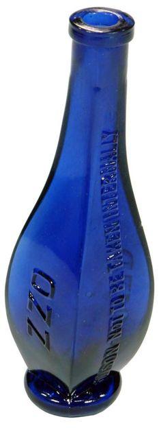 OZZ or ZZO Poison. A unique and rare Australian poison bottle. c1900s