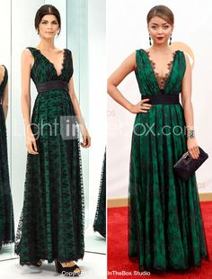 f1f292710bf Prom Gowns Military Ball Australia Formal Evening Dress Dark Green Plus  Sizes Dresses Petite A-line V-neck Long Floor-length Lace Dress Taffeta Formal  Dress ...