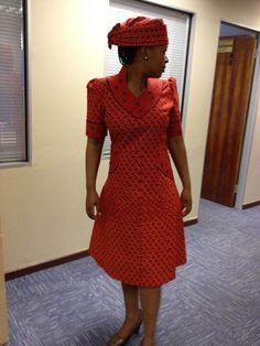 Elegant Shweshwe Dresses For Outing 2018 style Nigeria. African Print Dresses, African Dresses For Women, African Attire, African Wear, African Fashion Dresses, African Clothes, African Prints, African Outfits, Ankara Fashion
