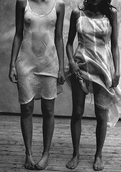 #MillyGirl #Lifestyle - Embraces the fact that the best fashion walks the beautiful fine line between fashion and art - Missy Rayder & Mini Anden by Peter Lindbergh.Vogue Italia,1997