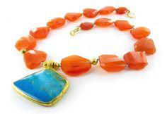Nava Zahavi - carnelian and turquoise necklace