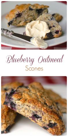 Blueberry Oatmeal Scones - These scones are tender with crispy edges & are a real weekend brunch treat, especially with a pat of melting butter or with thick cream or clotted cream..