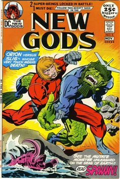 New Gods - Jack Kirby art, cover & reprint Dc Comic Books, Vintage Comic Books, Comic Book Artists, Vintage Comics, Comic Book Covers, Comic Artist, Dc Comics, Comics For Sale, Jack Kirby Art