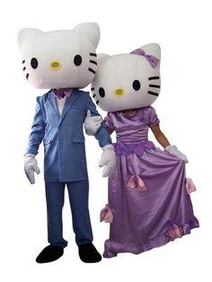 Hello Kitty Couple in Wedding Suit Mascot Adult Costume