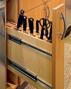 Kitchen Interesting Cabinet Drawer Pull Out Knife Block Design With Minimalist Concept Ideas Awesome And Innovative Knife Holders For The Contemporary