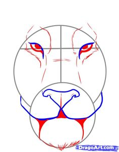 how to draw a tiger face step 3