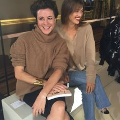 jeannedamasCashmere girls at @stellamccartney @garancedore