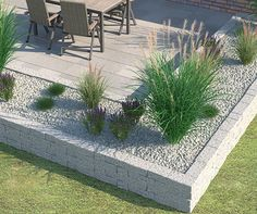 "Drywall ""Siola leicht"" as a bedding border - Terrasse und Garten - Garden Decor"