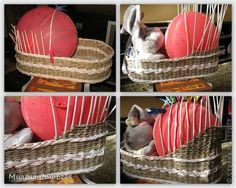 Мастер-класс 8 марта День защиты детей Декупаж Плетение Люлька для кукол Бумага газетная Бумажные полосы Краска фото 7