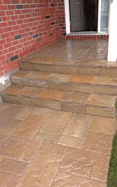 pictures of techo bloc concrete overlay system - Google Search Concrete Overlay, Overlays, Tile Floor, Landscaping, Sidewalk, Flooring, Google Search, Pictures, Flats