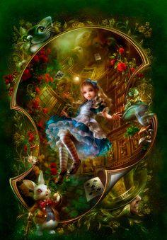 Alice in Wonderland, Art by Shuichi Mizoguchi