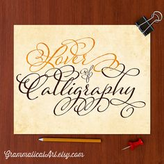 Typography Print Calligraphy Poster Typographic by GrammaticalArt, $10.00