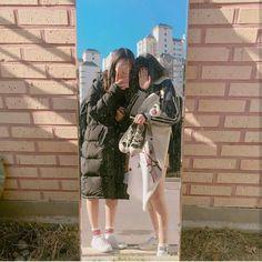 Lesbian teens mirror asian around