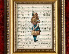 Music Themed Nursery | ... antique sheet m usic print nursery decor home decor wall decor 8x10