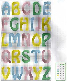 Making Cross Stitch: Lindos Monograms! Crochet Alphabet, Cross Stitch Alphabet Patterns, Cross Stitch Letters, Cross Stitch Embroidery, Stitch Patterns, Alpha Patterns, Loom Patterns, Knitting Patterns, Plastic Canvas Letters