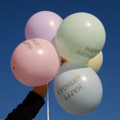Happy Birthday Pastel Balloons | Pastel Party Decorations | Pretty Party Shop – The Original Party Bag Company Birthday Party Themes, Happy Birthday, Birthday Balloons, Pastel Balloons, Paper Ribbon, Perfect Party, Pastel Party Decorations, Balloon Shop, Pretty Designs