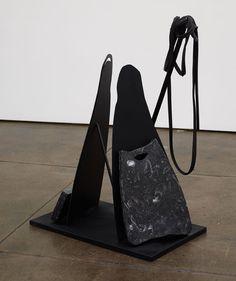 Rallou Panagiotou, Rubber Lineage II, 2014. Black marble, steel, spray paint, rubber, 80 x 70 x 38 cm. Lineage, International Artist, Black Marble, Mykonos, New Art, Contemporary Art, Steel, Painting, Painting Art