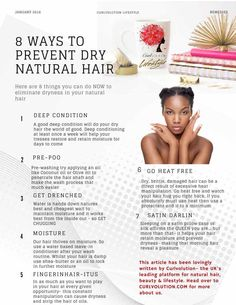 8 ways to prevent dry #naturalhair