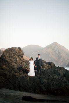 Big Sur Elopement, Pfeiffer Beach, California Wedding, Elopement, Elope, Elopement Photographer