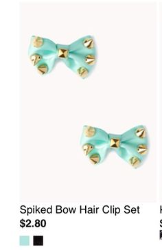 Cute studed bows -forever21