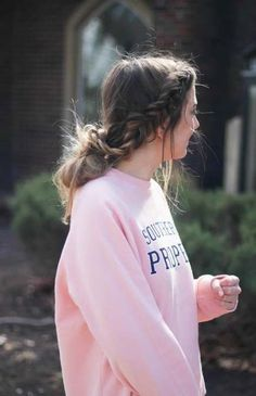 Perfect hairstyles for Valentine's Day that are easy and no heat. I love finding cute hairstyles that are no heat hairstyles and easy to do! By Lauren Lindmark on Daily Dos (Easy Hair No Heat) Valentine's Day Hairstyles, No Heat Hairstyles, Casual Hairstyles, Braided Hairstyles, Cute Sporty Hairstyles, Wedding Hairstyles, Cute School Hairstyles, Blonde Hairstyles, Layered Hairstyles